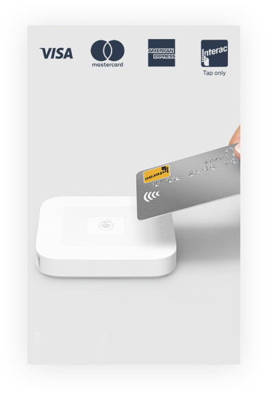 Accepted Payments through Chip Reader/Mag Strip